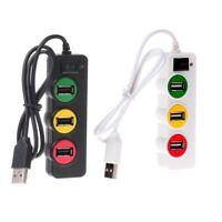 Portable Elegant Chic Traffic light HUB High Speed USB 2.0 Mini 4 Port Adapter