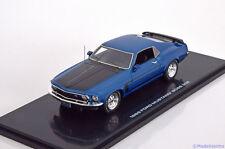 1:43 Highway 61 Ford Mustang Boss 302 1969 bluemetallic/black