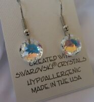HYPOALLERGENIC  Dangle Earrings  Swarovski Elements Crystal  Aurora Borealis  AB