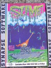 SLIME WORLD Atari/SYNAPSE 800 Cartridge Damaged Box