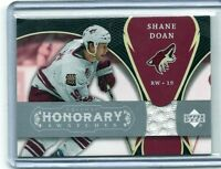 2007/08 UD TRILOGY HONORARY SWATCHES SHANE DOAN HS-SD