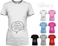 WOMENS EAT MORE ICE CREAM MUM... MATERNITY T-SHIRT FUNNY PREGNANCY TOP SIZE 8-16