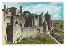 France Cite Carcassone Fort Citadel Castle Porte d'Aude Vtg Chrome Postcard 4X6