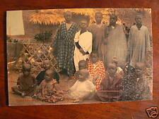 cpa senegal village porte maillot groupe enfants animee