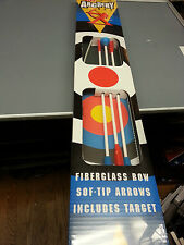 JUNIOR FIBERGLASS BOW ARROWS AND TARGET INCLUDED TOY ARCHERY SET