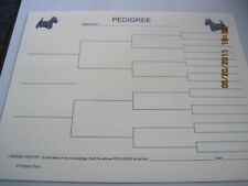 Scottish Terrier Scottie Blank Pedigree Sheets 10