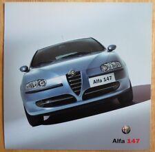 ALFA ROMEO 147 gama 2000 pictórica introductorio Mercado de GB folleto