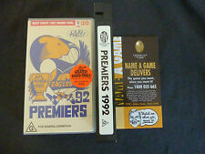 WEST COAST EAGLES PREMIERS 1992 RARE VHS VIDEO! AFL GEELONG MCG