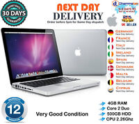 "Apple MacBook Pro 13"" A1278 intel Core 2 Duo 2.26GHz 4GB RAM 500GB HDD Late 2009"