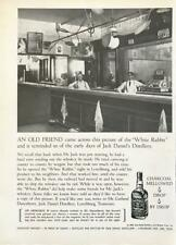 1968 Jack Daniels Tennessee Whiskey Ad An Old Friend White Rabbit Bar Lynchburg
