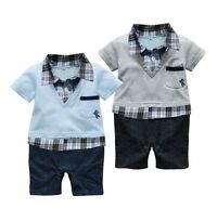 Baby Toddler Boy Formal Party Casual Suit One Piece Outfit NEWBORN-18M 0000-1