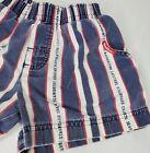 Vintage Oshkosh B'Gosh Denim Shorts 3T Sailor Sailing Red White Blue Stripes USA