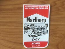 AUTOCOLLANT MARLBORO Championnat france 1981 ROUEN 21 JUIN 1981 F57