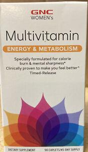 GNC Women's Multivitamin Energy & Metabolism, 90 Caplets   EXPIRE 2022 Authentic