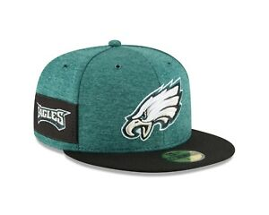 Philadelphia Eagles  New Era 2018 NFL Sideline Home 59FIFTY Fitted Hat - Green