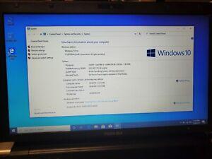 "WORKING TOSHIBA TECRA R950 15"" LAPTOP CORE i5-3320M 8GB RAM 500GB HDD WIN.10 PRO"