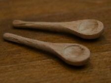 Two Wooden Spoons, Dolls House Miniatures, kitchen utensil, Cooking Accessory