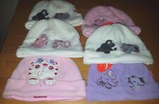 BABIES FLEECE HATS WITH ASSORTED DESIGNS & SIZES - ELEPHANTS & CATS - BRAND NEW