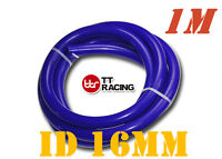 """16mm 5/8"""" Silicone Vacuum Tube Hose Silicon Tubing Silicon 3.3FT 1M Meter Blue"""