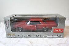 1965 Pontiac GTO Red Sun Star Diecast Car 1:18 Item No. 1801 Box