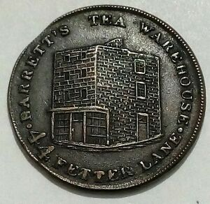Barrett's Tea Warehouse LONDON Unofficial Farthing Undated Issued After 1820