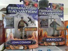"JOHN CONNOR & MARCUS TERMINATOR SALVATION 6"" Action Figure MOC PLAYMATES"