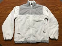 GIRLS THE NORTH FACE WHITE FULL ZIP FLEECE DENALI OSITO JACKET SIZE YOUTH LARGE