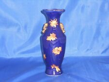 Islamic Ceramic blue vase with gold handle / Al Kaaba / Home decorative