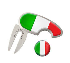 Italian Golf Pitch Mark Repairer + Ball Marker Society Prize Divot Tool Italy