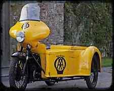 Bsa Aa 01 A4 Metal Sign Motorbike Vintage Aged