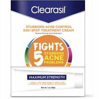 Clearasil Stubborn Acne Control 5 in1 Spot Treatment Cream 1 oz