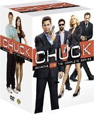 Chuck Season 1-5 Complete 25 DVD Box Set Action Comedy TV Series Region 2 New