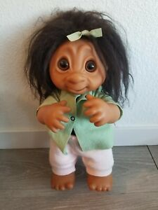 """Vintage 1979 TH DAM 806 17"""" Girl Troll Doll with Original Clothes Rare"""