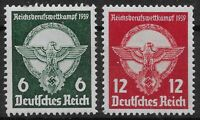 Germany Third Reich Mi# 689-690 MH 1939 Apprentice's Vocational Contest  *
