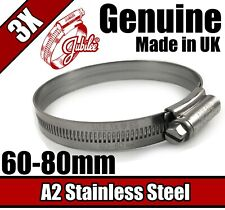 "2.3//8/"" TO 3.1//8/"" SIZE 3X 3X GENUINE JUBILEE HOSE CLIPS STEEL BZP  60MM TO 80MM"