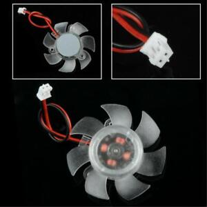 45mm 2Pin PC Graphics VGA Video Card Heatsink Cooler Cooling Replacement Fan 12V