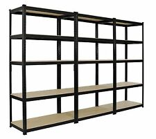 3X 2.2m INDUSTRIAL HEAVY DUTY BOLTLESS METAL SHELVING RACKING WAREHOUSE GARAGE