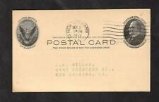 Fly Speck Philately, Error, Freak, Oddity on a 1902 Ux18 McKinley Postal Card