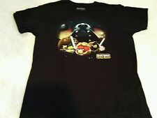 Angry Birds Star Wars Mens Size Large T-shirt Darth Vader Chewie Luke Obie