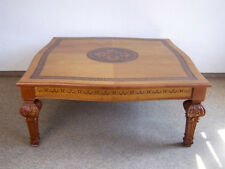 Couchtisch Wohnzimmertisch Tisch126 x126 Intarsien Holz Kirschbaumton Antik-Stil