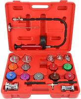 21pc Radiator Cooling System Pump Pressure Leak Tester Detector Aluminum Adapter