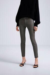 cherrie424: NWOT Zara Coated Gray Skinny Jeans