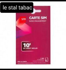 Carte Sim puce SFR PréPayée 4G sans abonnement ✅ 10€ de crédit inclus✅ ❤️