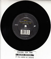 "GEORGE MICHAEL Praying For Time 7"" 45 rpm vinyl record + juke box title strip"