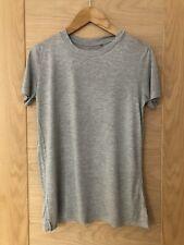 Next Ladies Plain Grey Marl Cotton Tshirt Size 8
