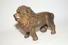 """Cast Iron """"Lion Tail Right"""" Still Bank Made By Arcade"""