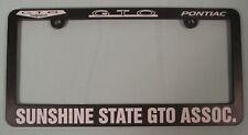 NEW Pontiac GTO Sunshine State GTO Assoc license frame