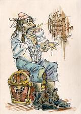 S CLAY WILSON Captain Pissgums ORIGINAL PAINTED ILLUSTRATION ART