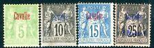 Kavalla (Français Po en turc Empire) -5 C vert-jaune, 10 C noir, 15 C Bleu M/M