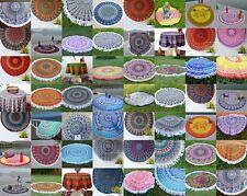 "Wholesale Lot 50 Assorted Indian Round Mandala Beach Tapestry Yoga Mat Towel 49"""